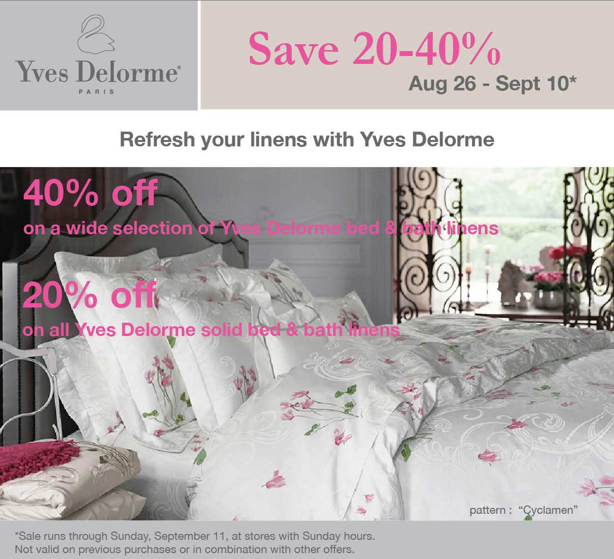 Home gifts and accessories in st louis for Yves delorme