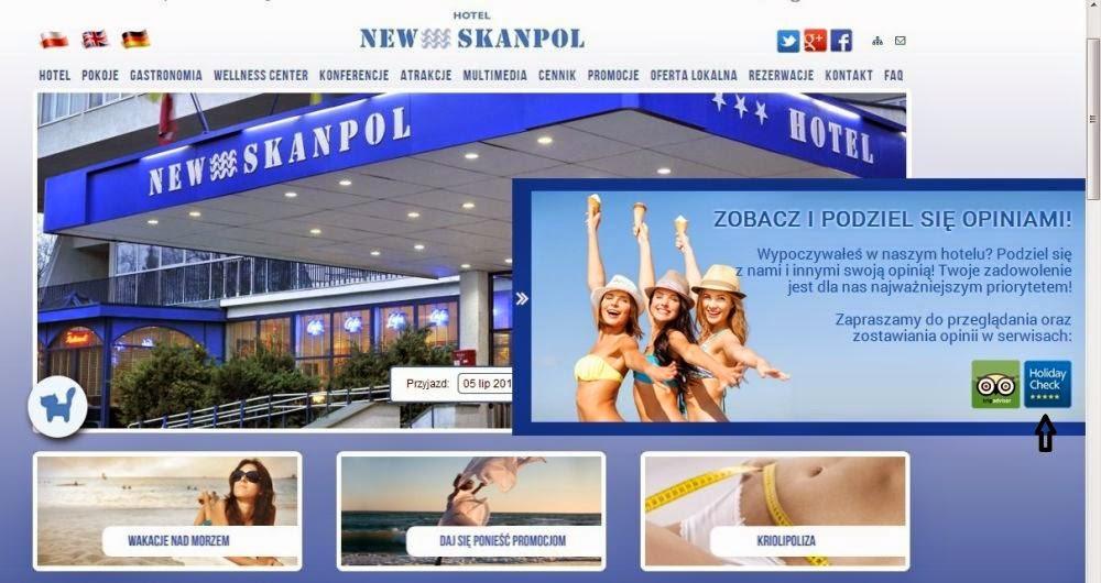 strona główna hotelu New Skanpol w Kołobrzegu
