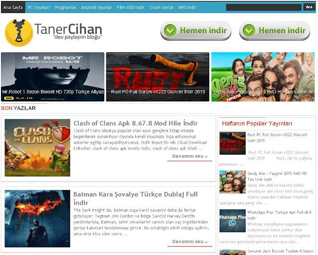 tanercihan.com v2  blogger teması