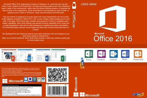 Download Microsoft Office 2016 v16.0.4229.1002 Multi Microsoft Office 2016 Front Cover 105607