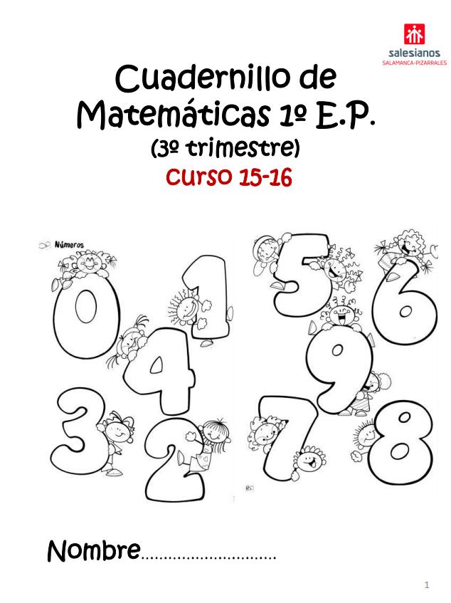 CUADERNILLO DE MATEMÁTICAS 1º