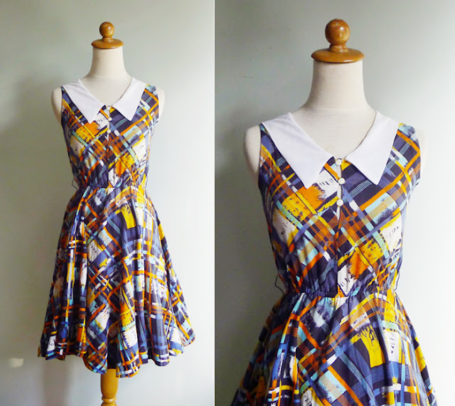 vintage collar dress xs
