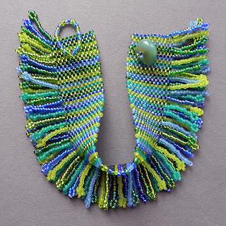 купить браслет из бисера в сине-зеленой гамме русалки украшения украина