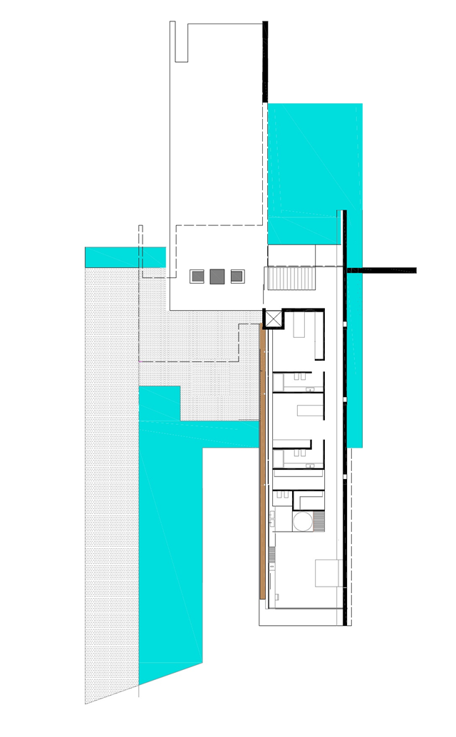 Ground floor plan of the H3 residence