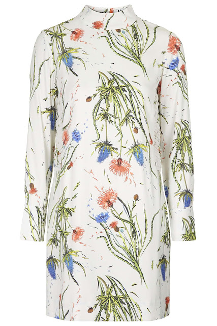 topshop unique floral dress,