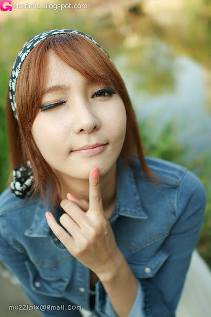 4 Jang Jung Eun - Outdoor-very cute asian girl-girlcute4u.blogspot.com