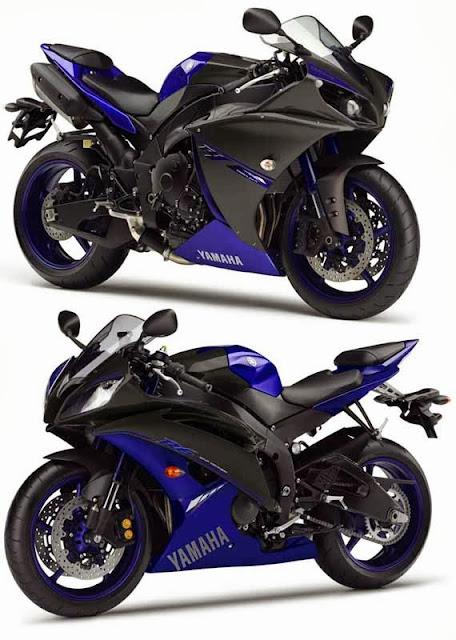 Gambar Yamaha YZF-R1 dan YZF R6 Race Blue 2014
