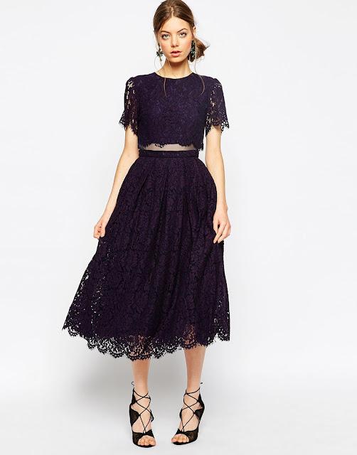 black lace layer prom dress, black crop midi dress,