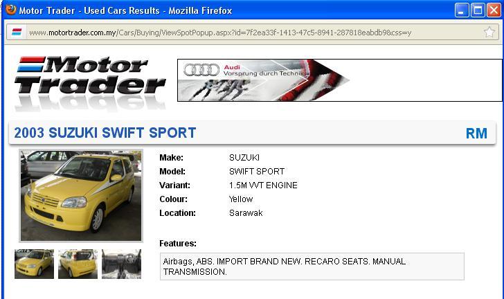 WORLD OF HT81S - JDM SWIFT SPORT: HT81S for sale