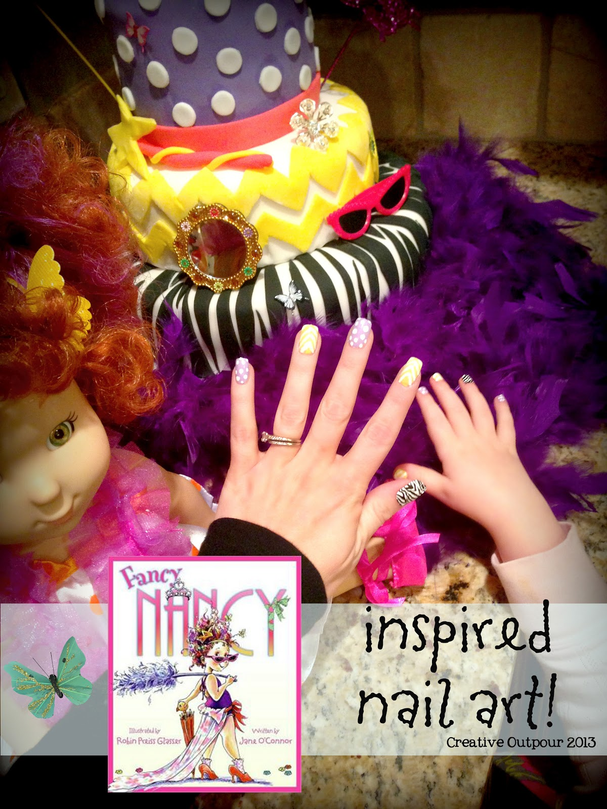 Fancy Nancy Inspired Nail Art! - Creative Outpour