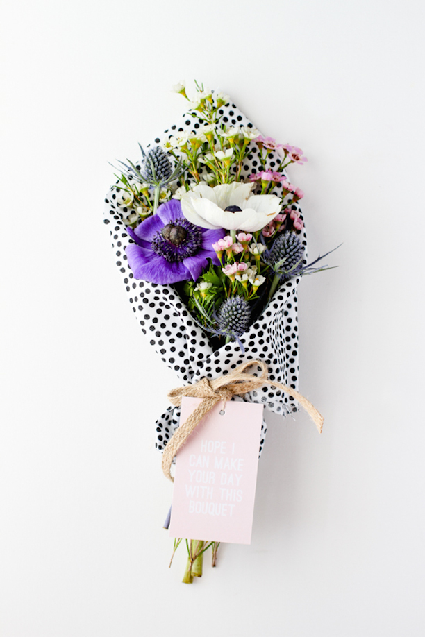 Make Your Day Bouquet Anemones Polka Dot Tissue Paper