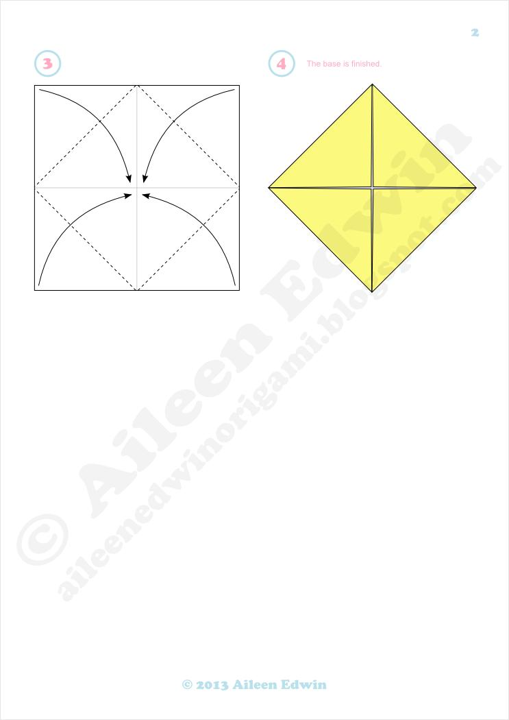 Origami blintz base diagrams