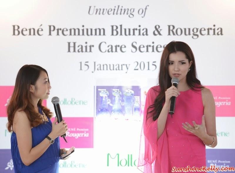 Bene Premium Bluria, Bene Premium Rougeria, MoltoBene in Malaysia, MoltoBene, Hair Care, Japan Hair Product, zebra square, sharing session, Amelia Henderson, TV host, radio DJ, model