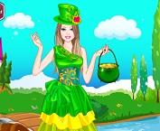 فستان باربي الاخضر