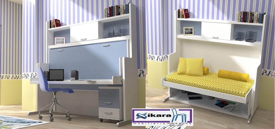 Habitaciones juveniles peque as for Habitaciones juveniles 3 camas
