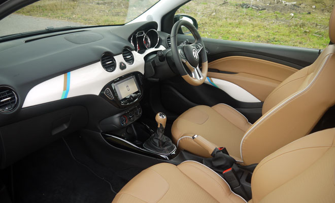 Vauxhall Adam Rocks Air front interior