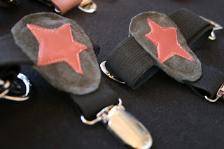 sock garters - stars