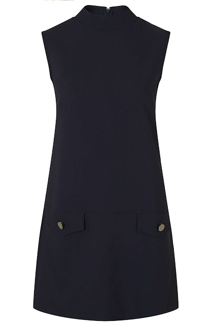 twin sister navy dress, high neck pinafore dress, high neck navy dress,