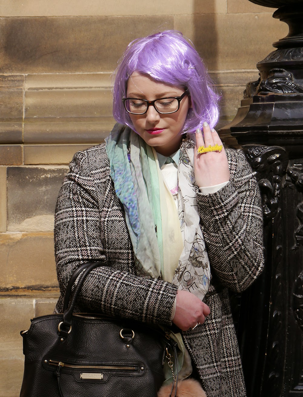 #scotstreetstyle, #EdFashion, Edinburgh, street style, how to, DIY, pastel hair, wig, lilac hair