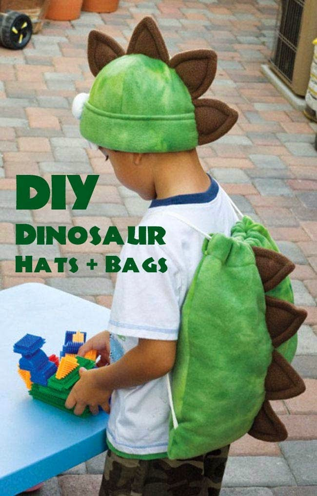 Pattern for dino party hat and favor bag