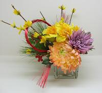 水仙・レンギョウ・菊のお飾り