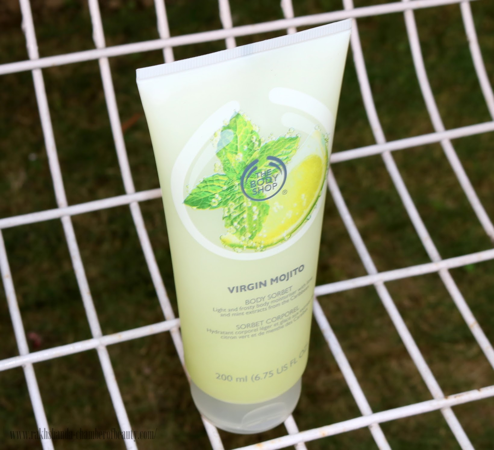 The Body Shop Virgin Mojito range in India, The Body Shop Virgin Mojito Body Sorbet-review, price in India, Indian beauty blogger, Chamber of Beauty