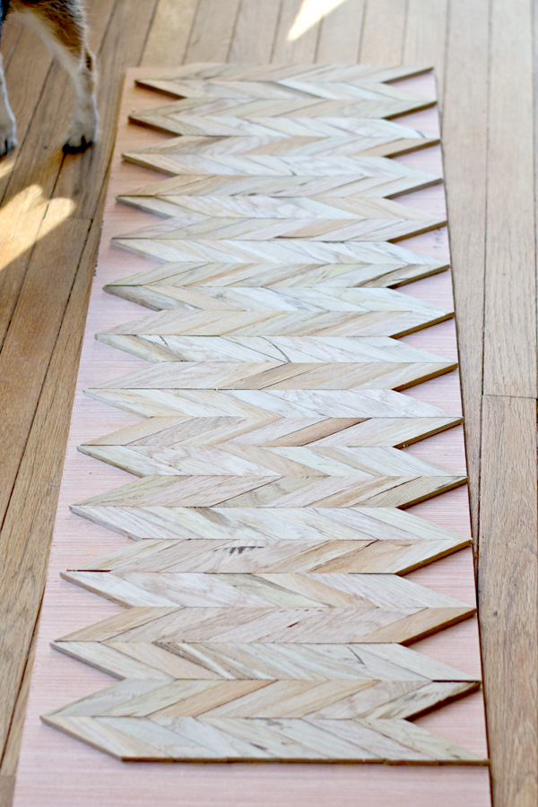 how to cut a chevron pattern in wood