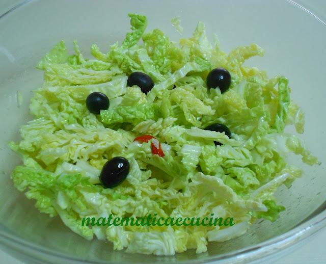 insalata di verza con olive di gaeta