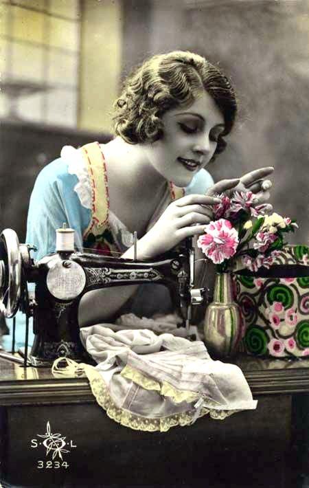 La vieja m quina de coser - Maquinas de coser ladys ...