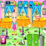 لعبة تنظيف غرفة بيبي هازل