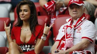 La afición polaca se hizo presente