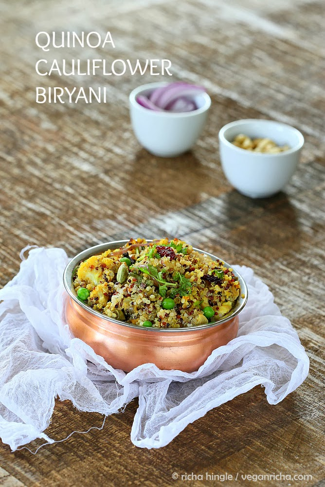 Vegan Glutenfree Quinoa Cauliflower Biryani