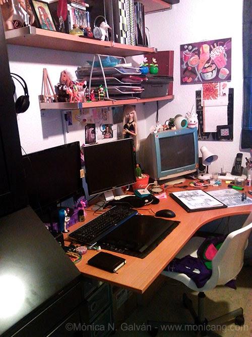 Enchanted Visions artist, Monica N. Galvan's art studio