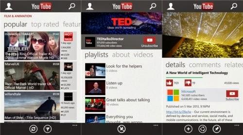 Torna dopo un bel pò di assenza l'applicazione ufficiale di Youtube per windows phone 8 con la versione 3.2