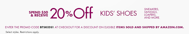 get 20% off kids shoes on amazon with promo code