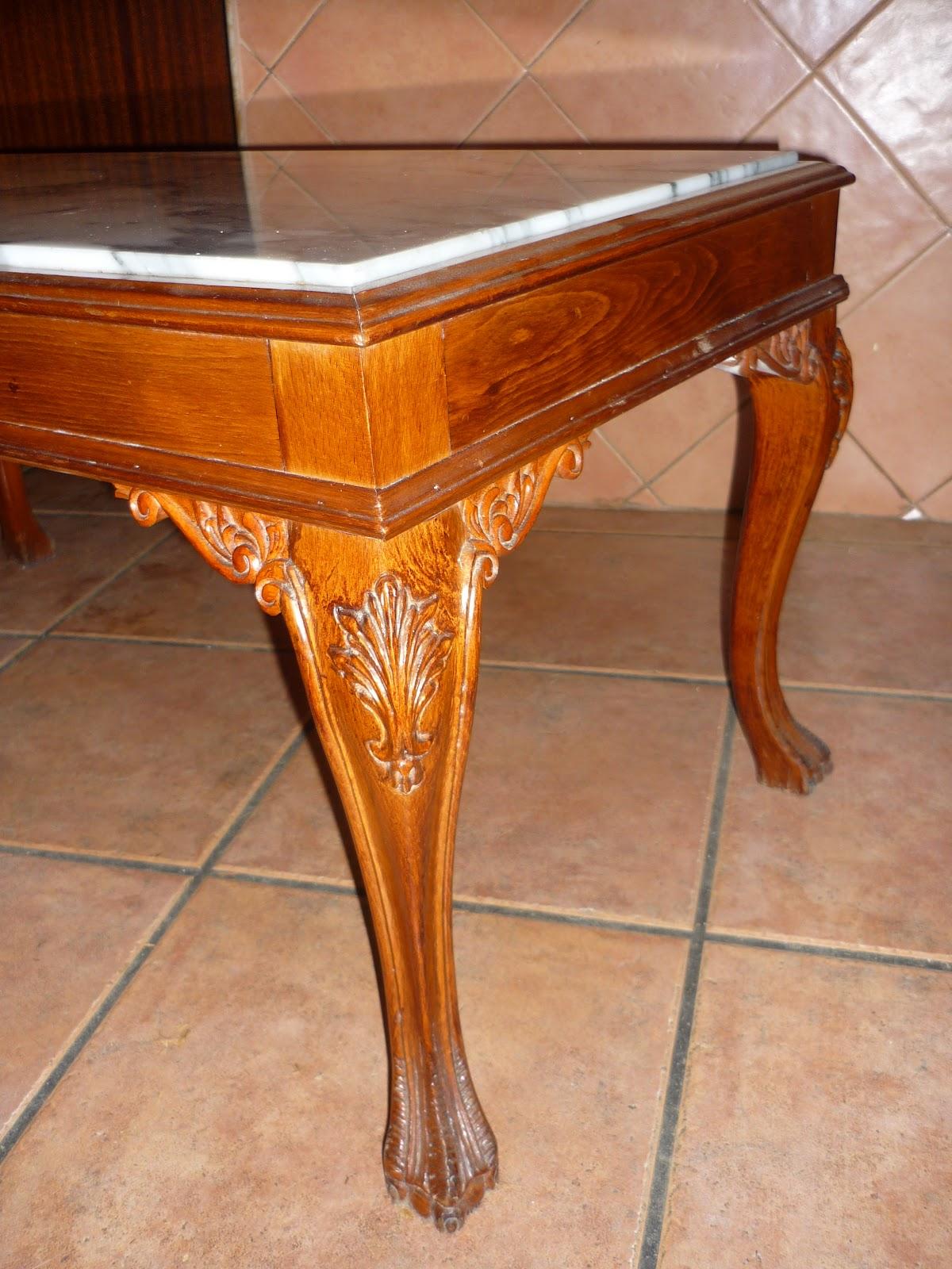 Arte en el desv n mesa auxiliar recuperada i - Mesas decorativas ...