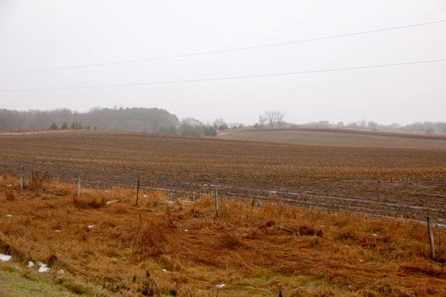 bare mid-December fields