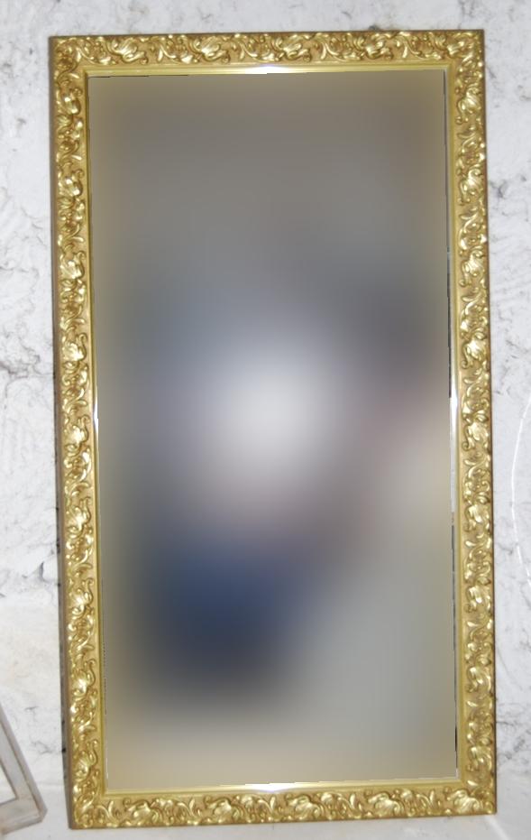 T preguntas ideas para sacar partido a un gran espejo for Espejo marco dorado