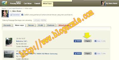 cara Edit iklan berniaga.com