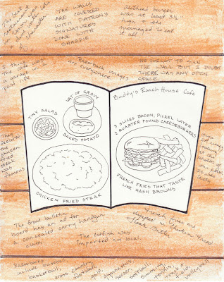Restaurant Near Crater Of Diamonds State Park Travel Journal Drawing