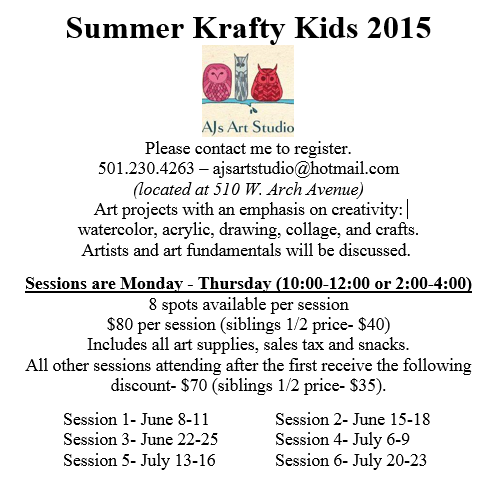 Creative Art Classes for Kids 4-15