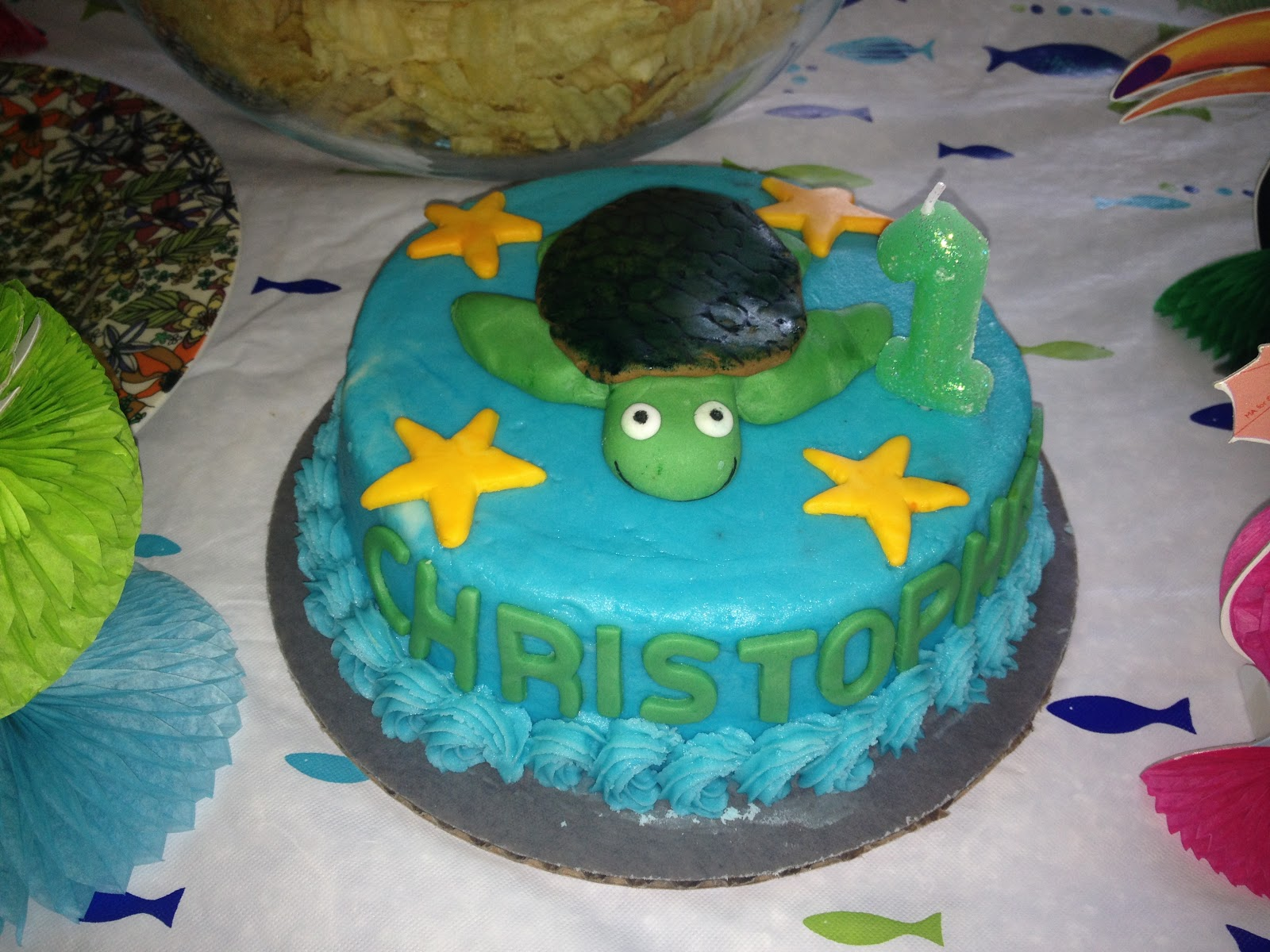 Sea Turtle Smash Cake
