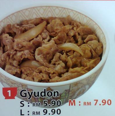 Sukiya Gyudon beef rice