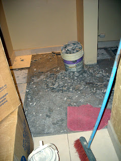 busting out concrete floor