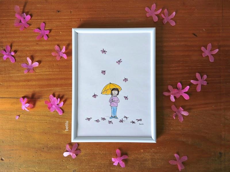 Llueven flores by betitu