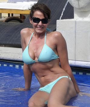 Apologise, but mature woman blue bikini come