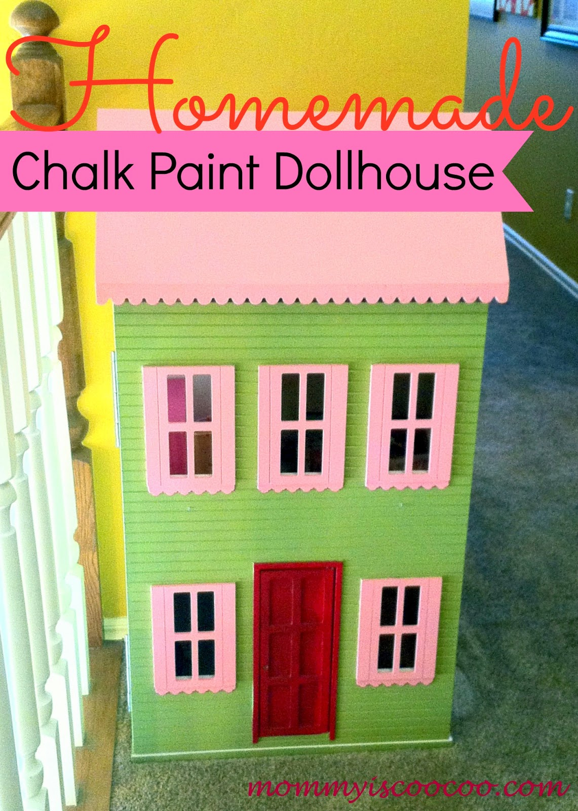 homemade chalk paint land of nod dollhouse knockoff from mommy is coocoo