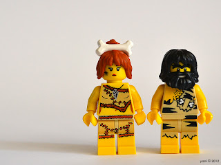 lego cavewoman and caveman