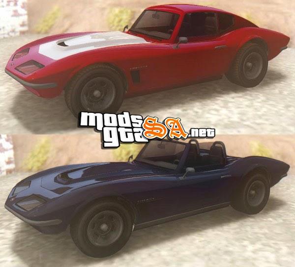 SA - Invetero Coquette Classic HT e TL do GTA V