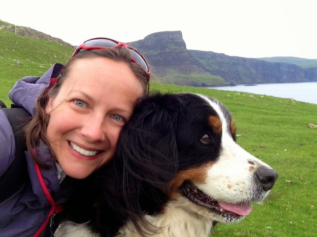 Kate and Mattie at Neist Point on the Isle of Skye